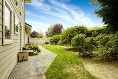 House with backyard garden. Real estate in Federal Way, WA Royalty Free Stock Image
