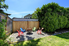 House backyard with rest area Stock Images