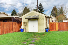 House backyard with shed Stock Image
