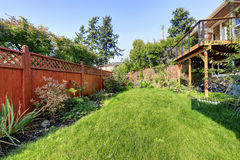 House backyard view Royalty Free Stock Photography