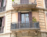 House with balconies, European architecture Stock Images