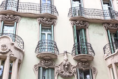House with balconies, European architecture Stock Image