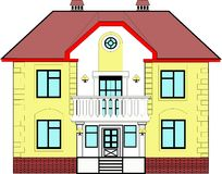 House with balcony Royalty Free Stock Images