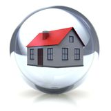 House in the ball Royalty Free Stock Photo