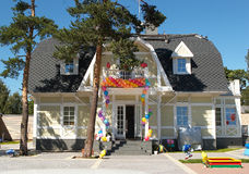 The house with balloons #3 Royalty Free Stock Image