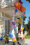 The house with balloons #5 Stock Photos