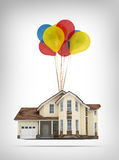 House and balloons Stock Image