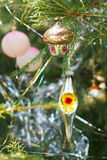 House, balls, lantern christmas decoration Stock Photography