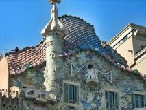 House Balyo, Casa Batllo in Barcelona Stock Photography