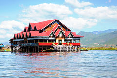 House on bamboo sticks in Inle Lake, Myanmar Royalty Free Stock Photography