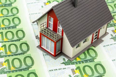 House on banknotes Stock Images