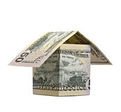 House of banknotes isolated Stock Image