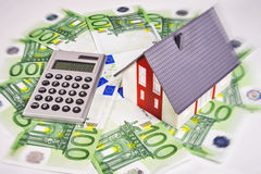 House and banknotes Royalty Free Stock Photos