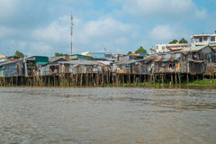 House on the Banks of the Mekong River, Vietnam Royalty Free Stock Photo