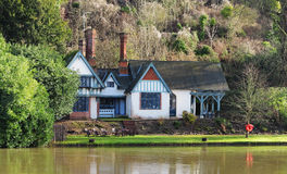 House on the banks of the River Thames Stock Photo