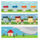 House banners stock illustration