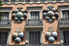 House, Barcelona, Spain Stock Images