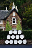 House with barrel Stock Photos