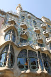 House Batllo in Barcelona. Barcelona September 2009 the building was restored by Antoni Gaudi and Josep Maria Jujol, was built in the year 1877 and was remodeled royalty free stock photo