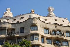 House Batllo in Barcelona. Barcelona September 2009 the building was restored by Antoni Gaudi and Josep Maria Jujol, was built in the year 1877 and was remodeled stock images