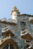 House Batllo in Barcelona. Barcelona September 2009 the building was restored by Antoni Gaudi and Josep Maria Jujol, was built in the year 1877 and was remodeled stock image