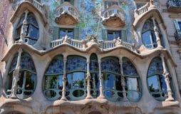Barcelona Spain. Casa Batllo in Barcelona, Spain, by Antonio Gaudi stock photo