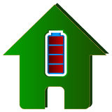 House with battery Stock Photography