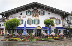 House in Bavaria, Germany, village Oberammergau Stock Image