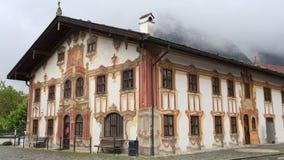 House in Bavaria, Germany, village Oberammergau Royalty Free Stock Image