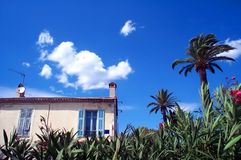 House on the beach. A mediteraneean house near the beach on Saint Tropez, Nise royalty free stock photography