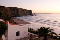 House on the beach. In Portugal royalty free stock images