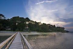 House and beach Stock Photo
