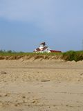 House on the Beach Again. House on the beach in the early morning, Eastham, Massachusetts, Cape Cod royalty free stock photos