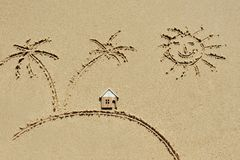 House on the beach - holiday concept Stock Photography
