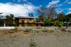 House beach. House in beach in Ometepe Island Royalty Free Stock Image