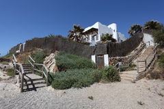 House on the beach. Spain royalty free stock photography