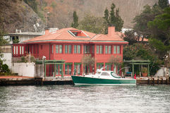 House. Beautiful house on the banks of the Bosphorus in Istanbul Stock Images