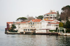 House. Beautiful house on the banks of the Bosphorus in Istanbul Royalty Free Stock Images