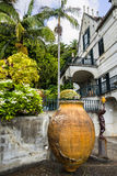 House in a Beautiful Garden at Monte above Funchal Madeira. This wonderful garden is at the top of the cablecar from the seafront in Funchal. It is filled with Stock Photography