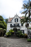House in a Beautiful Garden at Monte above Funchal Madeira. This wonderful garden is at the top of the cablecar from the seafront in Funchal. It is filled with Royalty Free Stock Photos