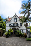 House in a Beautiful Garden at Monte above Funchal Madeira. This wonderful garden is at the top of the cablecar from the seafront in Funchal. It is filled with Stock Photo