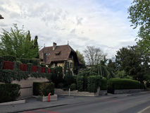 House and beautiful landscape Stock Image