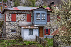 House in the beautiful Milia village, near Metsovo, Greece Royalty Free Stock Photography