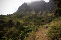 House in a beautiful moutains in Cape Verde Africa Stock Images