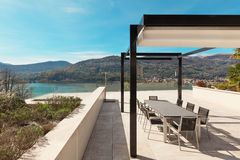 Wide Veranda Of Modern House Stock Photo - Image: 59229441 - ^