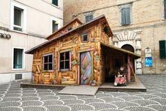 Befana house stock photo