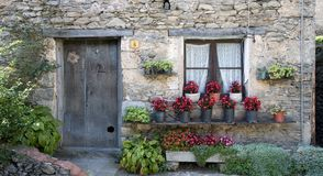 House in Beget, Catalonia stock photography