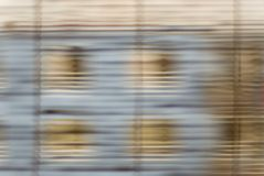 House behind curtain. Blurred house behind the curtain stock image