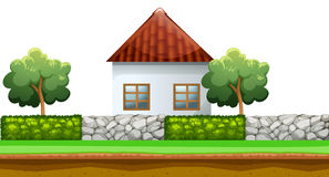 House behind the fence Royalty Free Stock Image