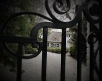 House behind a vence Stock Photography